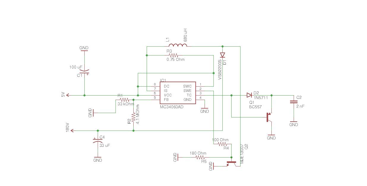 nixie power supply schematic